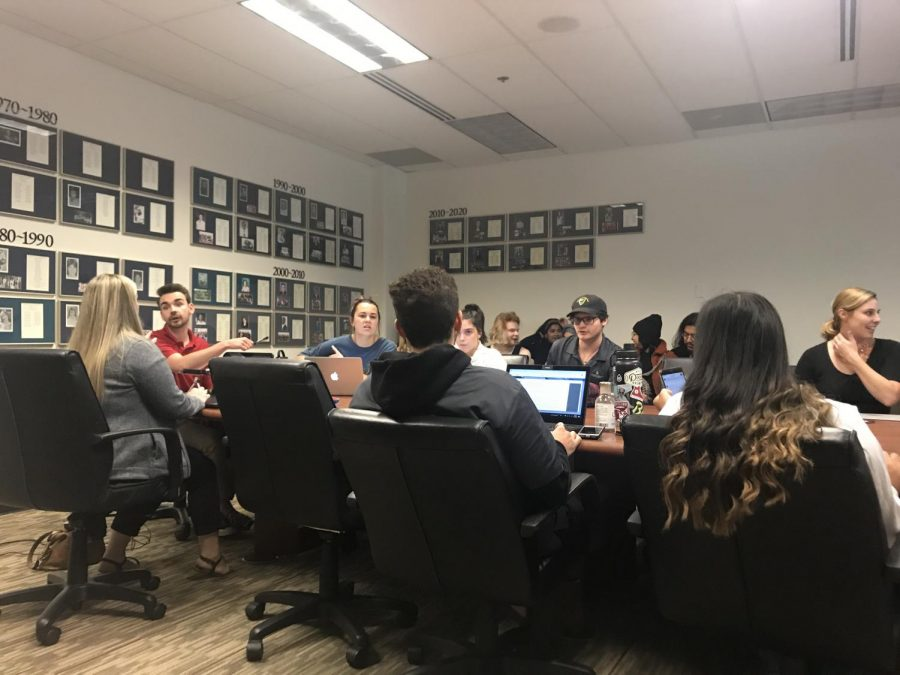 On Thursday Associated Student Government Affairs Committee were introduced two added agenda items including the event hosted by Chico Hillel and a proposition to officially denounce White Supremacy. Photo credit: Kimberly Morales