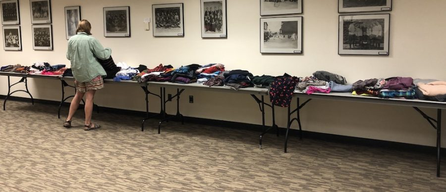 The Trans* Week of Resilience capped off with a clothing swap that saw a safe place for anyone to come in and take some free clothing. Photo credit: Ricardo Tovar