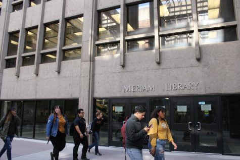 Graffiti at Meriam Library determined a 'non-threat'