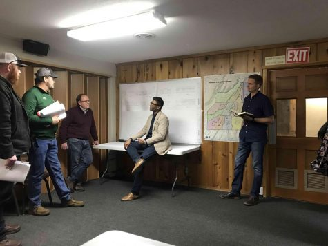 Chico State student architects review their rebuilding plans with Paradise residents