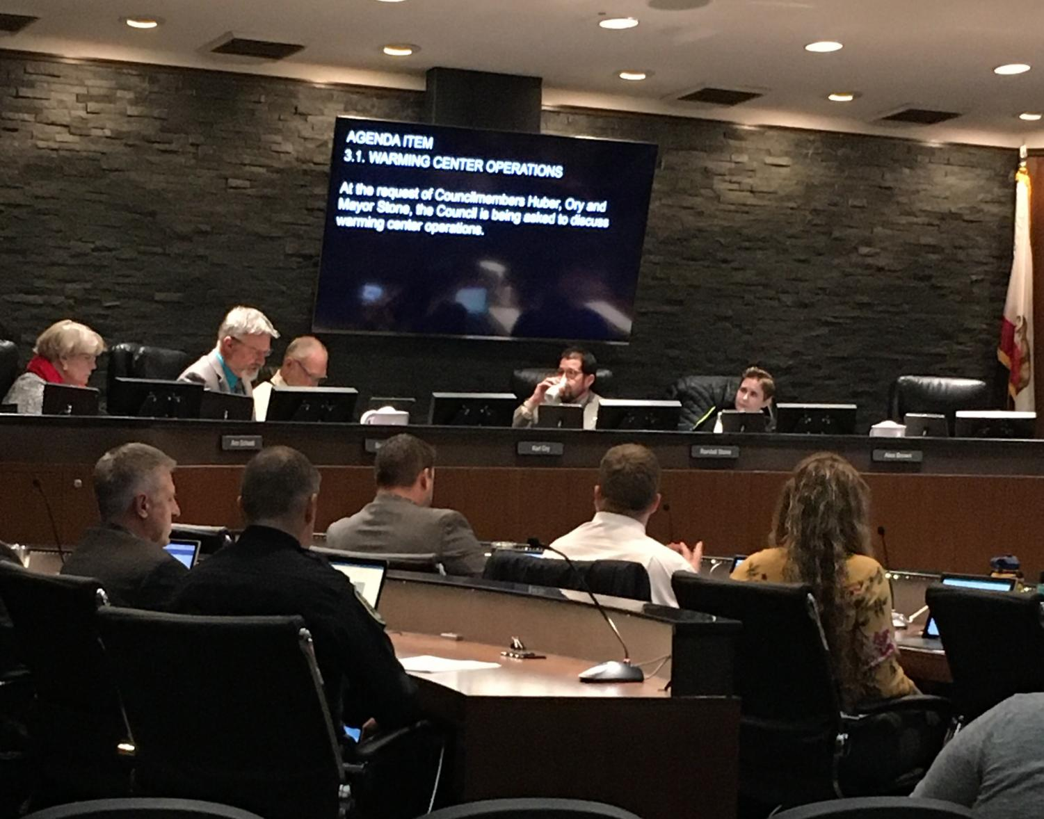 Mayor Stone called for a special council meeting Tuesday to address the issue of warming centers in harsh temperatures. Photo credit: Jack Lewis