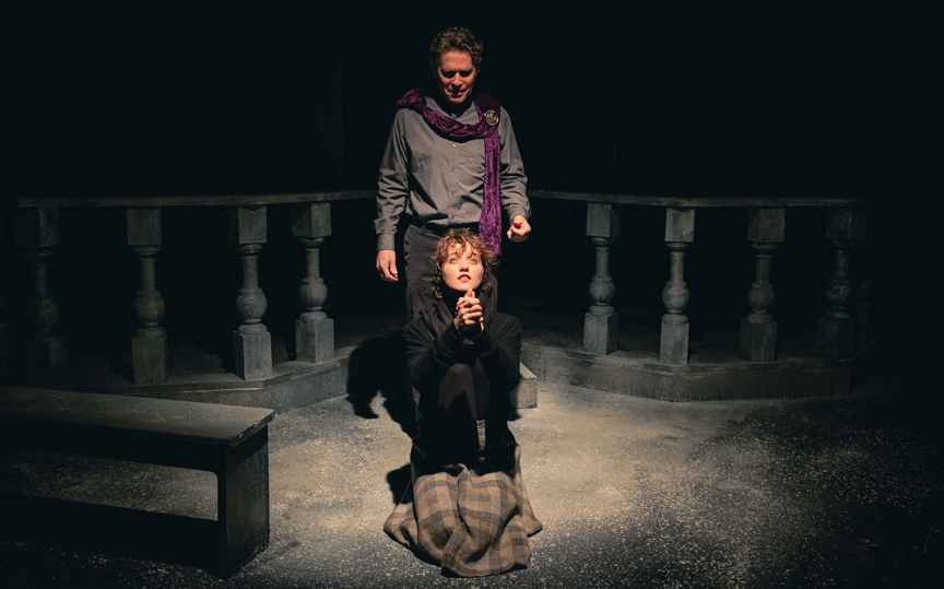 A still image from the Blue Room Theatre's production of