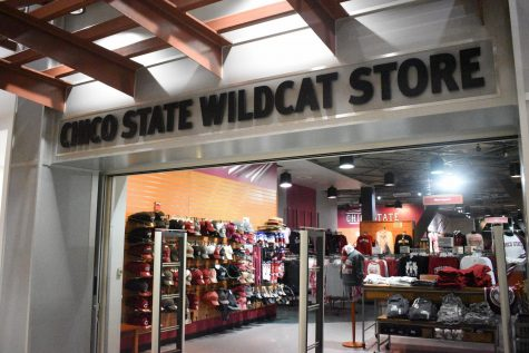 The outside of the Chico State Wildcat Store.