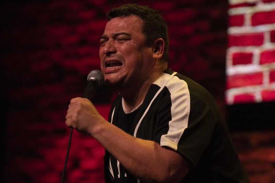Carlos Mencia performing a stand-up act