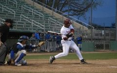 Wildcat batter takes a swing in a home game against Cal State San Bernardino.