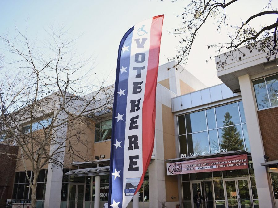 The 2020 Presidential Primary Election saw Chico State's first time as a voting center as the Bell Memorial Union opened on the second floor. Photo by Kimberly Morales.