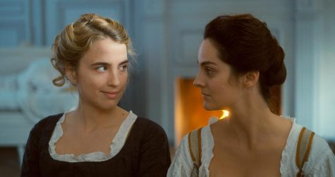 "Left to right: Adèle Haenel and Noémie Merlant star as Héloïse and Marianne in ""Portrait of a Lady on Fire.""  Courtesy of Pyramide Films"