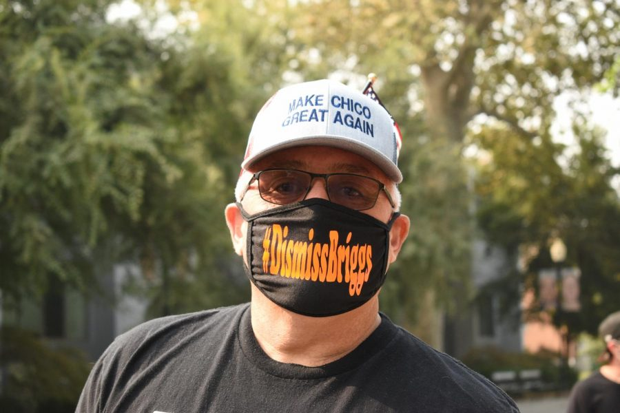 Marc Reed arrived on campus Thursday morning wearing a mask labeled,