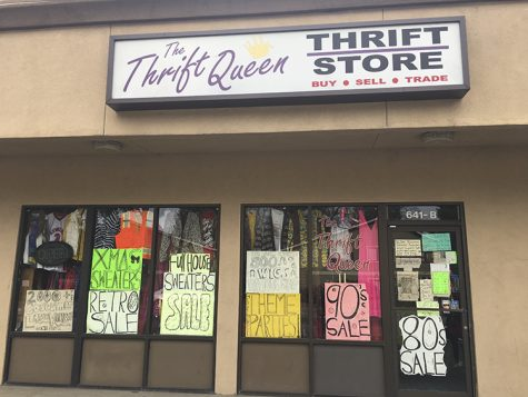 The front of Thrift Queen thrift store