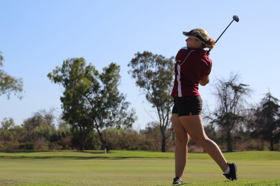 Kelly+More+takes+a+swing+while+representing+Foothill+Technology+High+School+in+Ventura%2C+Calif+while+playing+three+seasons+for+them.