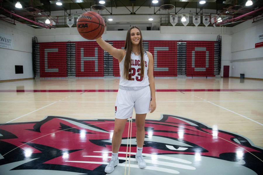 #23 Haley Ison is a junior and current member of the Chico State Wildcats women's basketball team (Ryan McCasland/Chico State Sports Information)