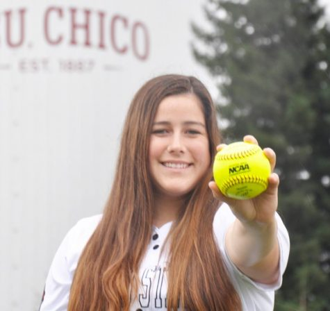 #6 Sam Mulock is a senior and a member of the softball team at Chico State