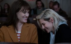 Kristen Stewart (right) and Mackenzie Davis (left) star in Clea Duvall's holiday rom-com,