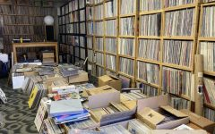 Part of Jeff Howse's extensive vinyl records collection