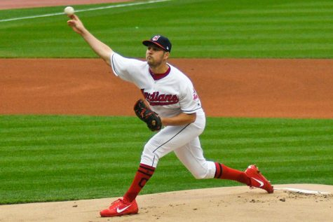 Cy Young Award winner Trevor Bauer throws a pitch for the Cleveland Indians. Bauer was recently acquired by the Dodgers in free agency.  Erik Drost - Creative Commons