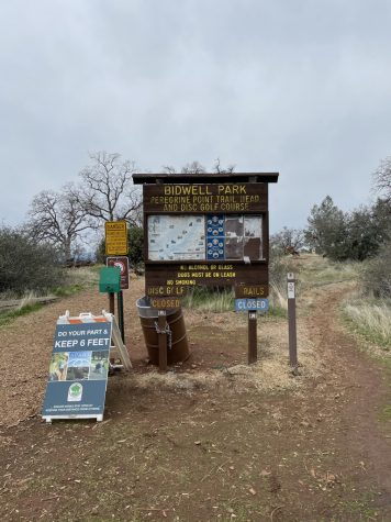 Entrance to Bidwell Frisbee Golf Course