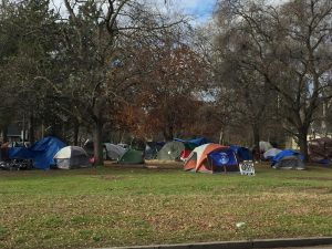 A homeless camp near Mulberry Street in Chico, Feb. 3 2021