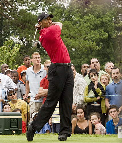 Tiger Woods at the AT&T National Golf Tournament at Congressional Country Club. Photo credits: Chase McAlpine with a CC BY-NC-ND 2.0 license.