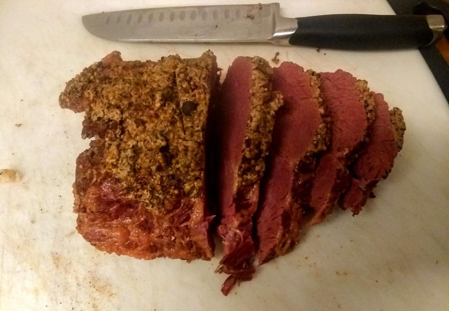 Corned beef should be sliceable and still fork-friendly.