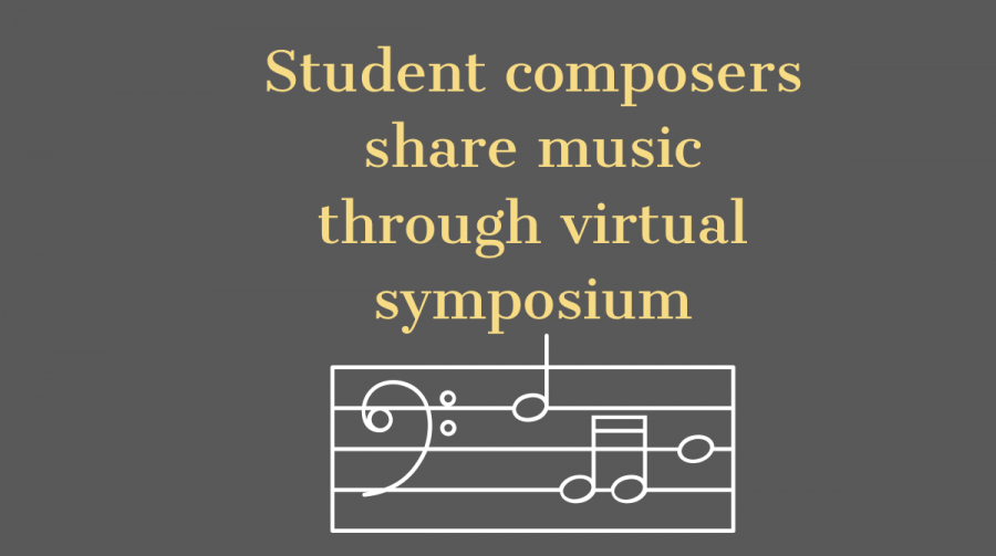 Students and alumni of the Department of Music and Theater gathered March 11 on a virtual platform to talk about and share original pieces of music.