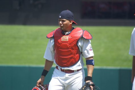 """Yadier Molina"" by shgmom56, Barbara Moore is licensed with CC BY-SA 2.0. To view a copy of this license, visit https://creativecommons.org/licenses/by-sa/2.0/"
