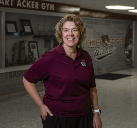 Director of Athletics Anita Barker has been keeping the department moving toward increasingly impressive heights as the National Association of Collegiate Directors of Athletics (NACDA) named Barker an Under Armour AD of the Year Award (ADOY) winner for the second time in her illustrious tenure as the department's leader, photographed on Thursday, July 18, 2019 in Chico, Calif.