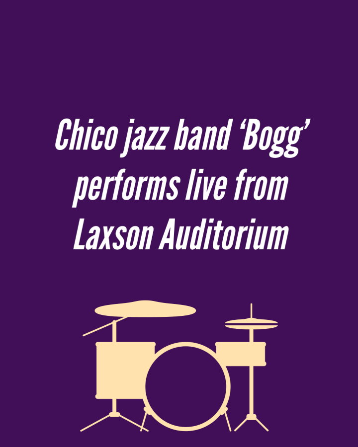 The+jazz+quintet+known+as+%22Bogg%22+performed+from+inside+Laxson+Auditorium+on+April+2+in+a+Chico+Voices+virtual+event.