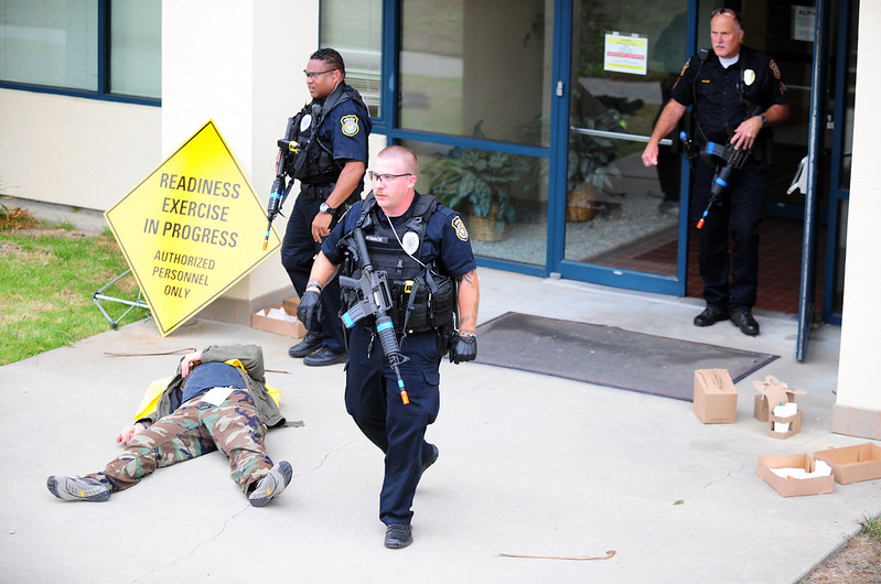 """Training Exercise: Active Shooter"" by Presidio of Monterey: DLIFLC & USAG https://search.creativecommons.org/photos/f533234a-f028-4ea1-af53-4c35730369a6"