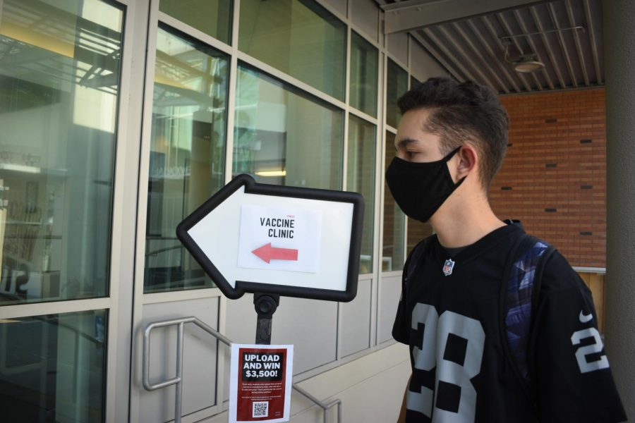 Jesus Alcala Garcia walked into Chico States last COVID-19 vaccine clinic on Sept. 14 to receive his final vaccine.