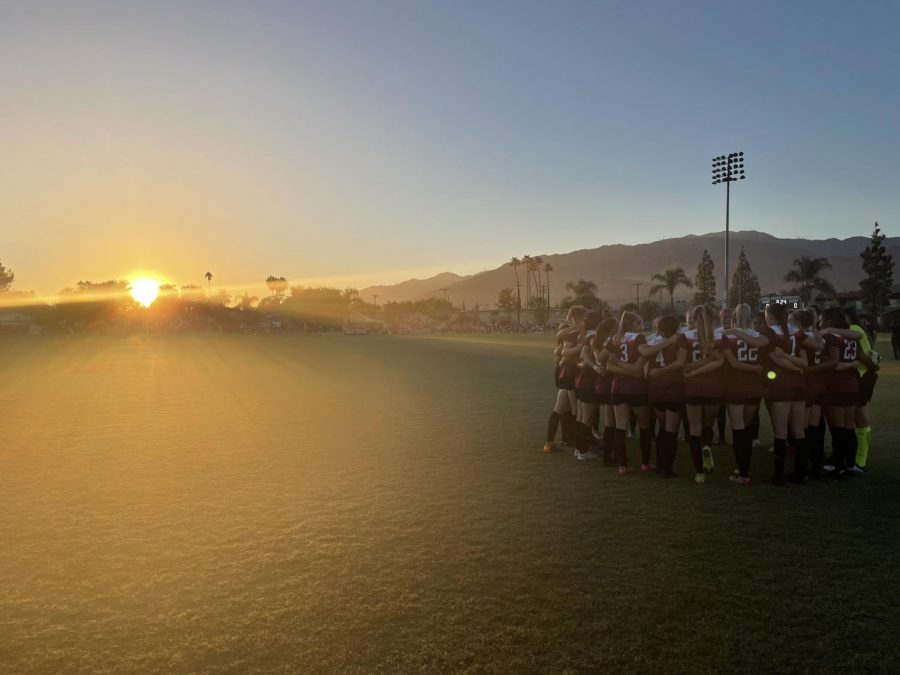 Photo courtesy of Assistant Coach Kat Benton-LaEzza  The Wildcats getting ready to take the field after 665 days.