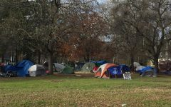 A homeless camp near Mulberry St. in Chico, CA Feb. 3 2021