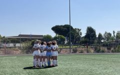 Chico State women's soccer team taking the field before Monday's game.