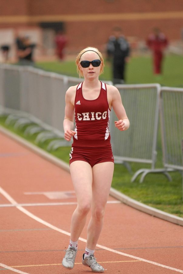 Kym+Crosby+competing+in+a+race+during+her+time+at+Chico+State