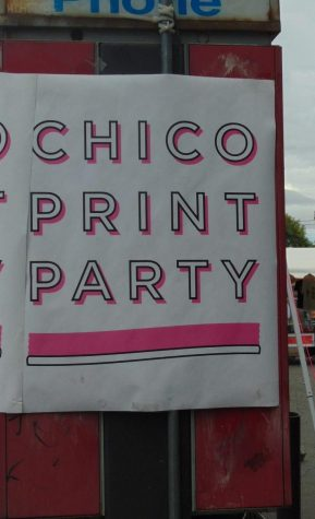 Chico Print Party flyer. Photo by Jolie Asuncion.