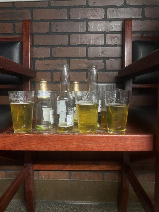 Beers at local bar Oasis