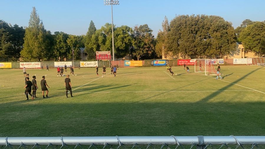 Wildcats warming up prior to their match up against SPU