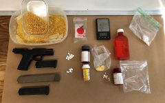 Items including a firearm and ammunition confiscated from the Sept. 23rd raid. Photo courtesy of the Butte Interagency Narcotics Task Force