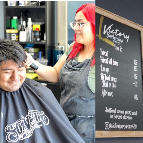 Co-owner of Victory Barbershop, Reyna Mercado